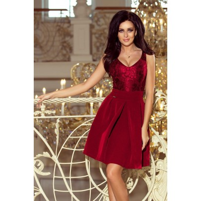 Dámske bordové mini šaty PIETRA 208-3