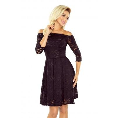 Čierne čipkované šaty Sarafin v168-1