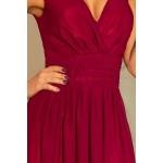 Krásne spoločenské šaty Bona - burgundy 166-3