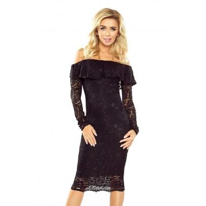 Čipkované dámske šaty Emily - čierne MM 021-1
