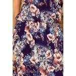 Dlhé šaty s kvetinovým motívom 191-2
