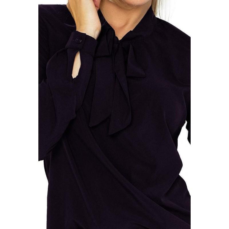 257c38870c01 ... Elegantná dámska blúzka - čierna 140-5