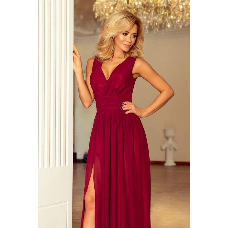 ... Krásne spoločenské šaty Bona - burgundy 166-3 ... 0d831a4075