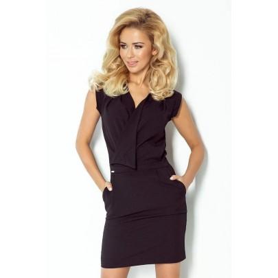 Atraktívne šaty Kirsten čierne v94-4