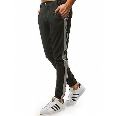 Moderné čierne pánske joggery vux1475
