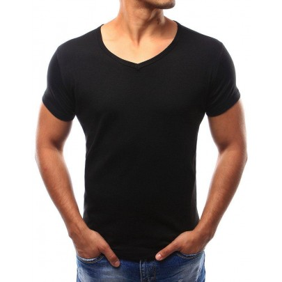Jednoduché pánske tričko čierne rx2579