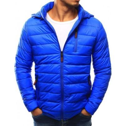Moderná prešívaná pánska bunda - svetlo modrá tx1813
