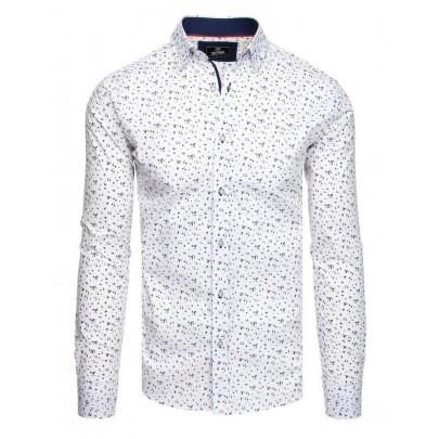 Pánska atraktívna biela košeľa dx1830