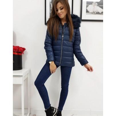 Dámska moderná zimná bunda modrá ty1010