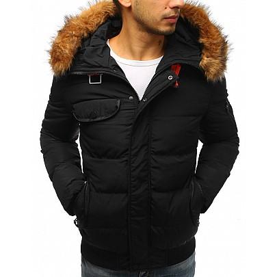 Zaujímavá pánska zimná bunda - čierna tx2526