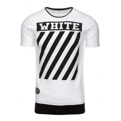Pohodlné pánske tričko - biele vrx2174