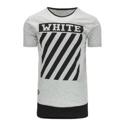 Pohodlné pánske tričko sivé vrx2166