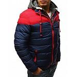 Atraktívná pánska zimná bunda - tmavo modrá tx2504