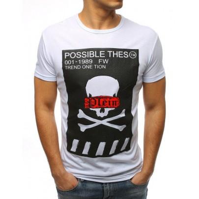 Biele pánske tričko s potlačou vrx3183