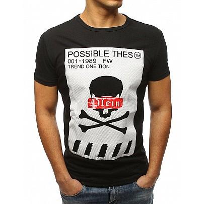 Čierne pánske tričko s potlačou vrx3184