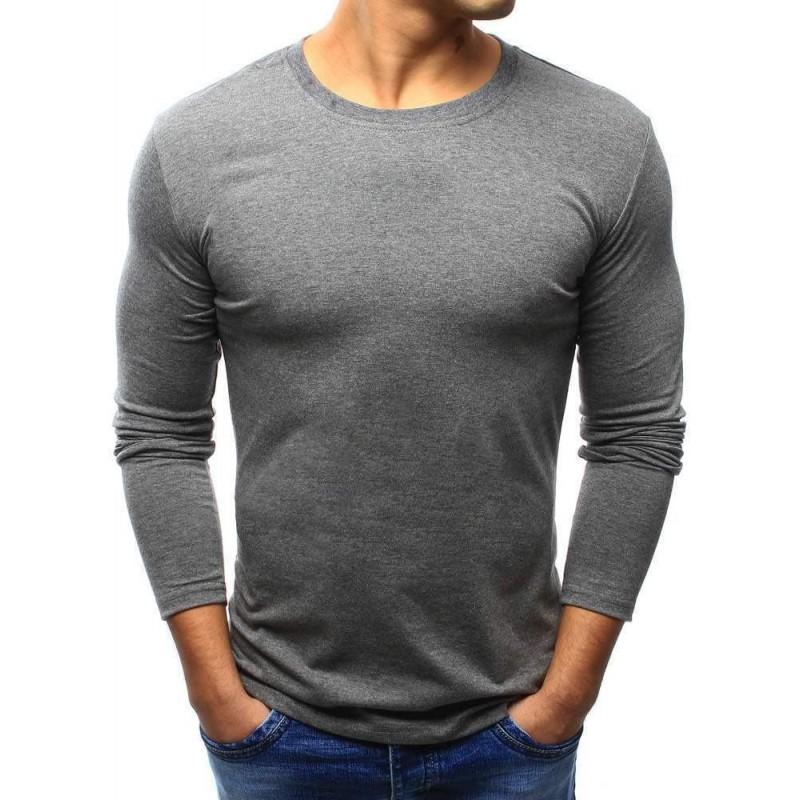 ac417ff43a5f -15% Jednofarebné pánske tričko - tmavo sivé vlx0419
