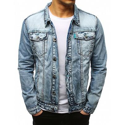 Riflová modrá pánska bunda vtx2641