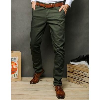 Pánske khaki pohodlné chino nohavice ux2392