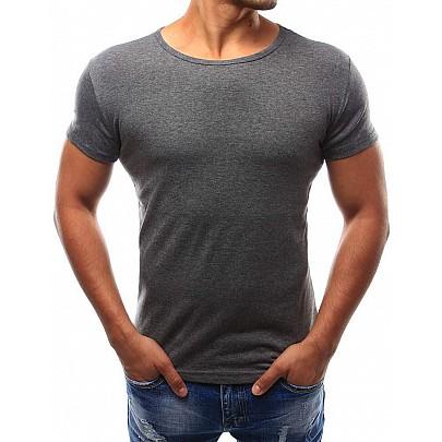 Klasické pánske tričko - tmavošedé rx2576