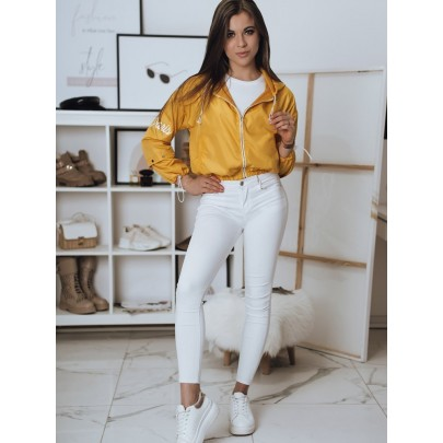 Žltá štýlova dámska bunda TY1822