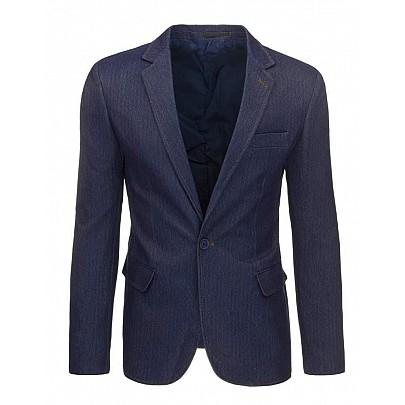Pánské sako v tmavo modrej farbe mx0271