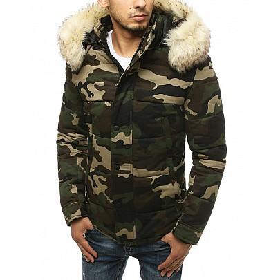 Pánska zelená zimná army bunda vtx3477