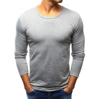 Pánske tričko sivé s dlhým rukávom lx0422