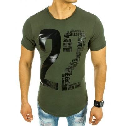 Zaujímavé pánske tričko - zelené vrx2072