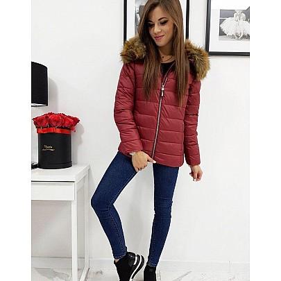 Dámska moderná zimná bunda bordová ty1012