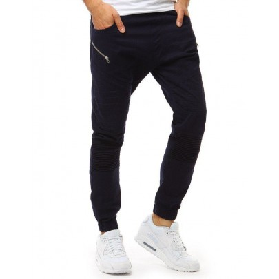 Pánske modré trendy joggery vux1889
