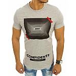 Sivé pánske tričko Confidents rx2111