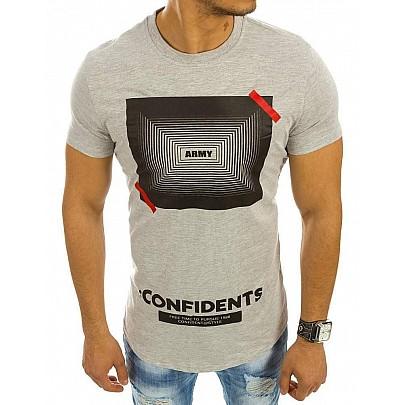 Sivé pánske tričko Confidents vrx2111