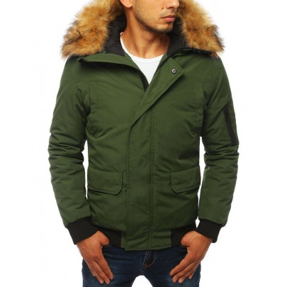 Pánska krátka khaki zimná bunda vtx2874