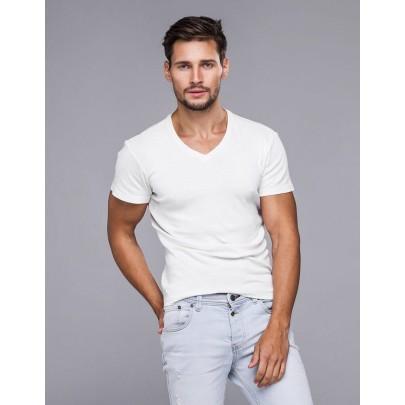 Jednoduché pánske tričko biele rx2578