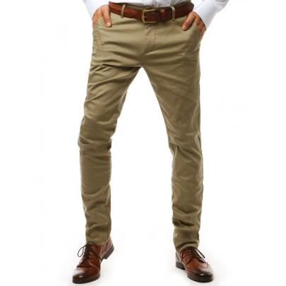 Pánske béžové elegantné chino nohavice ux1932
