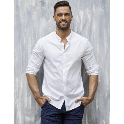 Atraktívna pánska košeľa biela dx1585