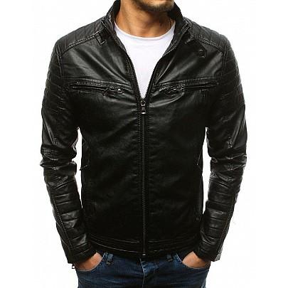 Čierna štýlová koženková bunda vtx1660