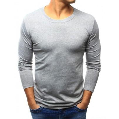 Jednofarebné pánske tričko - sivé vlx0418