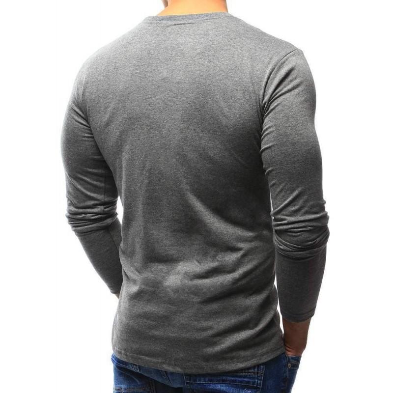 d06b76ae8187e Jednofarebné pánske tričko - tmavo sivé lx0419 | Bellago.sk