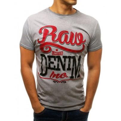 Pánske sivé jedinečné tričko s nápisom rx3784