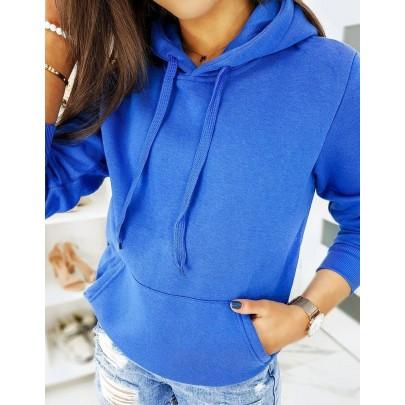 Dámska mikina modrá s kapucňou by0321
