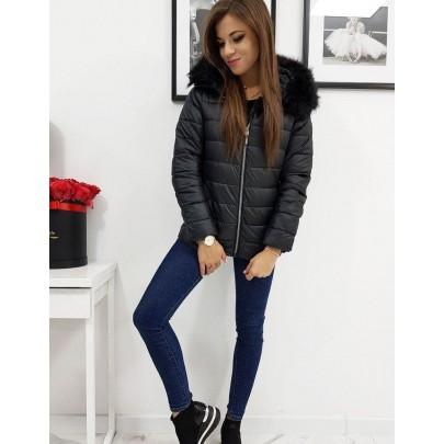 Dámska moderná zimná bunda čierna ty1009