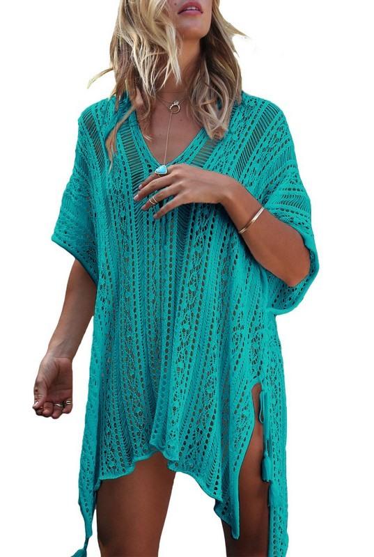 Dámske zelené plážové šaty