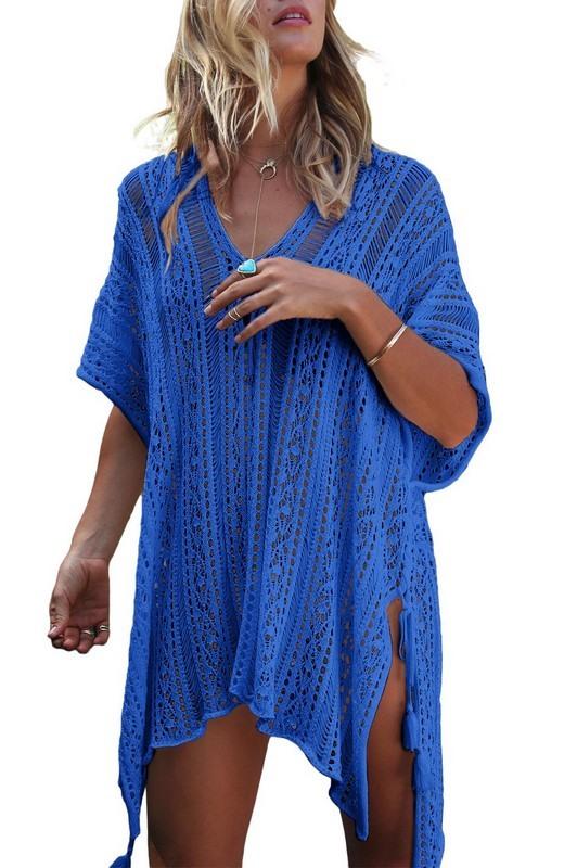 Dámske modré plážové šaty
