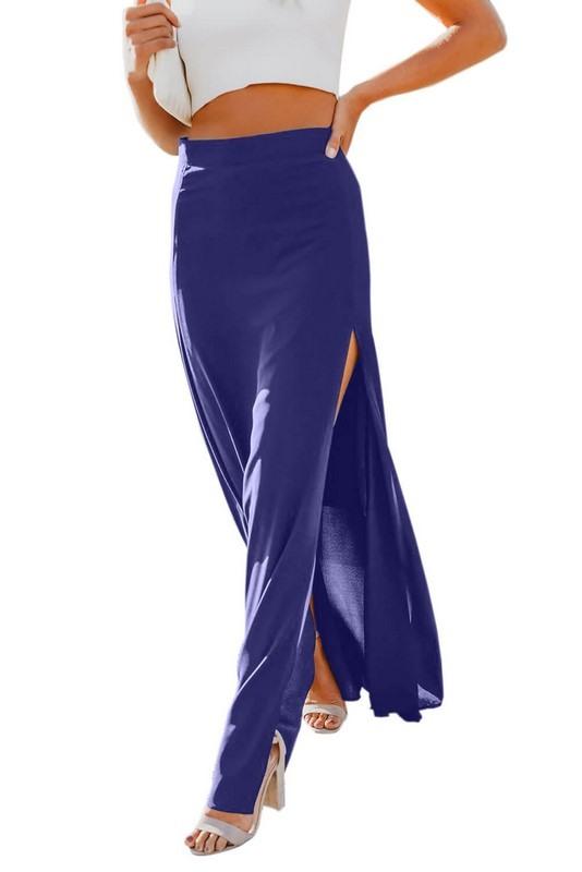 Dámska dlhá modrá sukňa