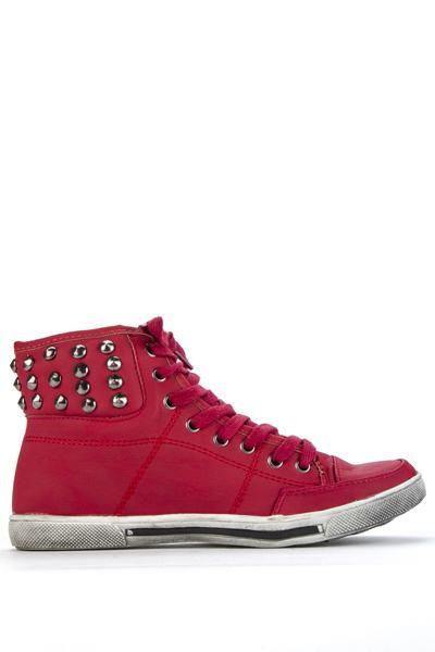 Dámske ostňové tenisky - červené