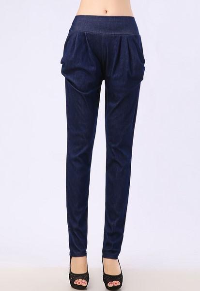 Dámske nohavice - modré