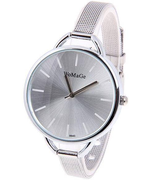 Strieborné hodinky Wo - Silver
