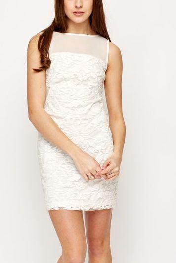 Dámske biele šaty s čipkou Paloma
