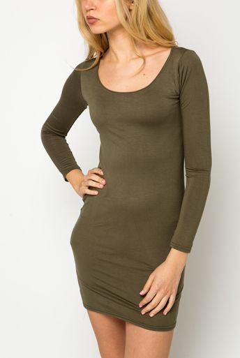 Dámske Bodycon šaty zelené - olivové